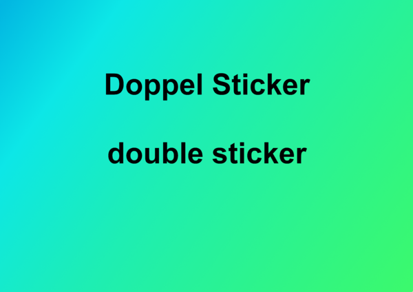 Doppel Sticker