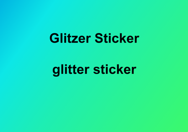 Glitzer Sticker