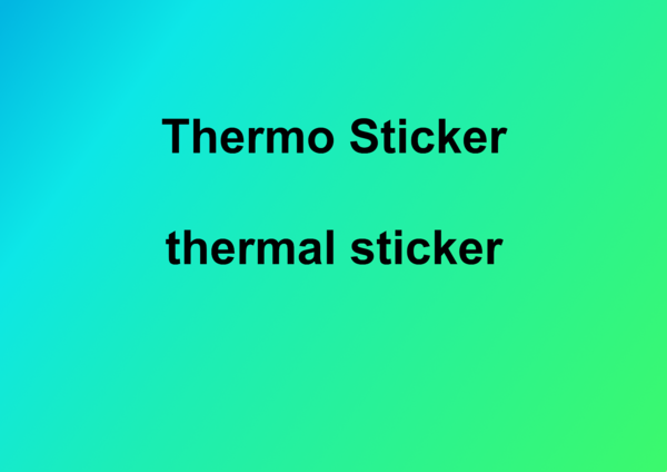 Thermo Sticker