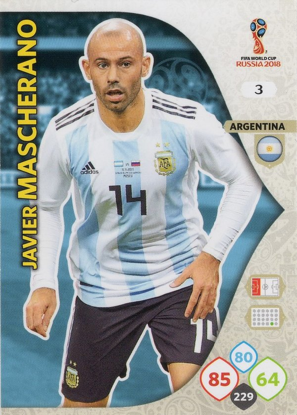 PANINI [FIFA World Cup Russia 2018 Adrenalyn XL] Trading Card Nr. 003