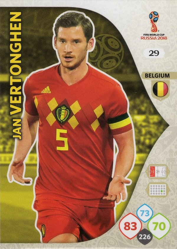 PANINI [FIFA World Cup Russia 2018 Adrenalyn XL] Trading Card Nr. 029