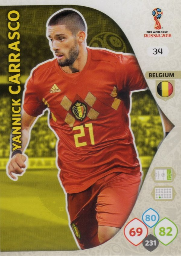 PANINI [FIFA World Cup Russia 2018 Adrenalyn XL] Trading Card Nr. 034
