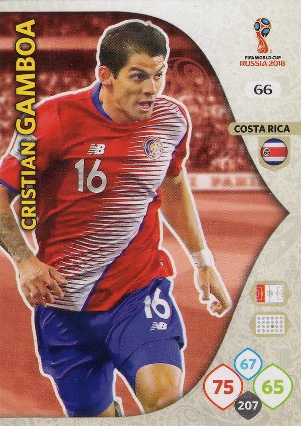 PANINI [FIFA World Cup Russia 2018 Adrenalyn XL] Trading Card Nr. 066