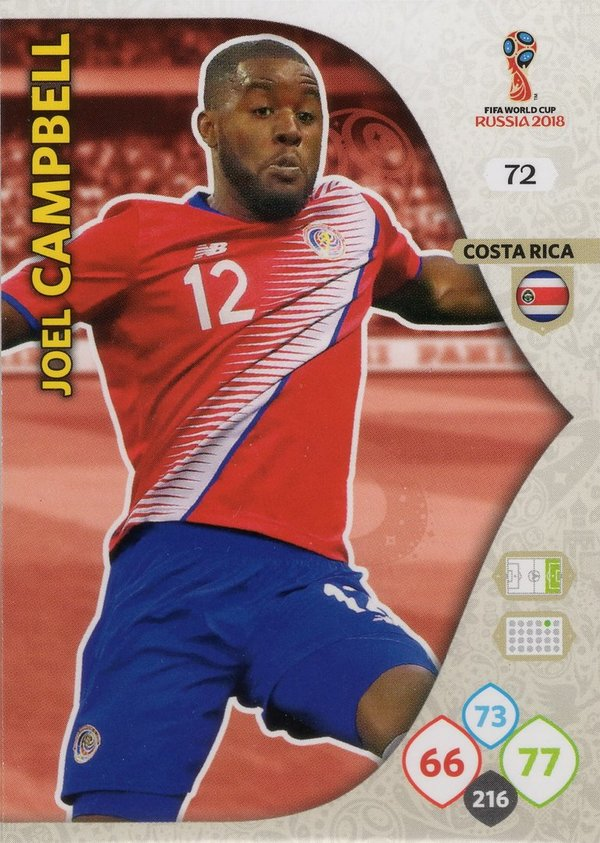 PANINI [FIFA World Cup Russia 2018 Adrenalyn XL] Trading Card Nr. 072
