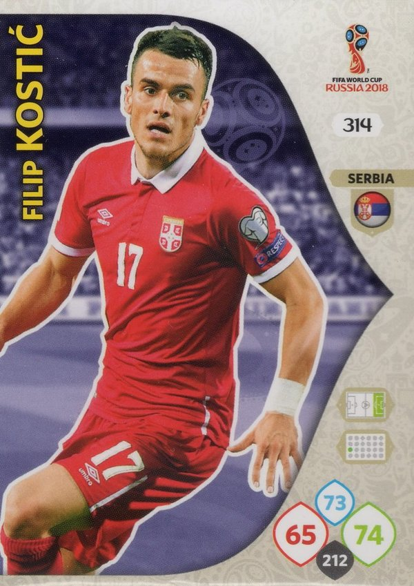 PANINI [FIFA World Cup Russia 2018 Adrenalyn XL] Trading Card Nr. 314