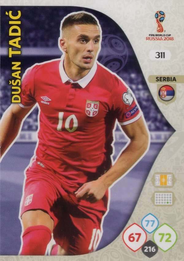 PANINI [FIFA World Cup Russia 2018 Adrenalyn XL] Trading Card Nr. 311
