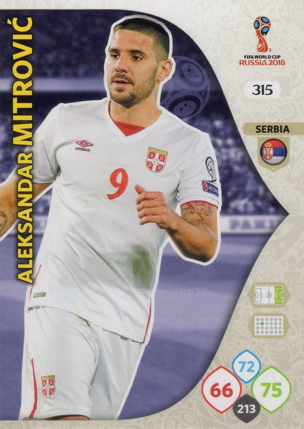 PANINI [FIFA World Cup Russia 2018 Adrenalyn XL] Trading Card Nr. 315