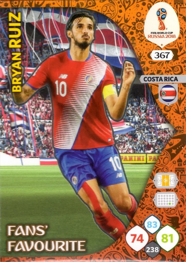 PANINI [FIFA World Cup Russia 2018 Adrenalyn XL] Trading Card Nr. 367