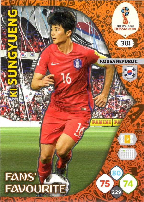 PANINI [FIFA World Cup Russia 2018 Adrenalyn XL] Trading Card Nr. 381