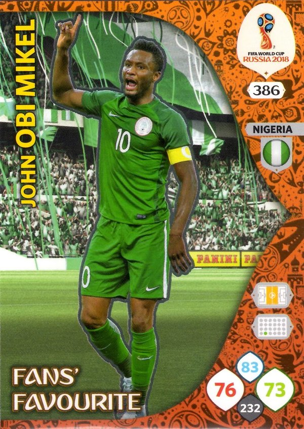 PANINI [FIFA World Cup Russia 2018 Adrenalyn XL] Trading Card Nr. 386