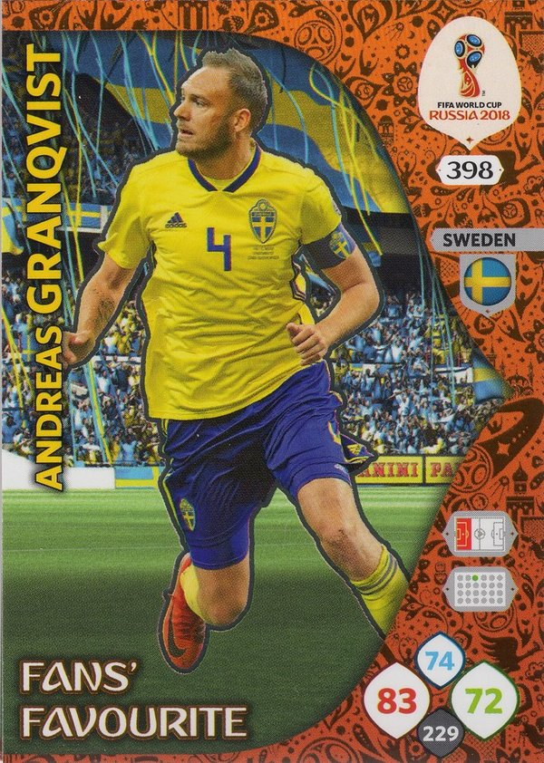 PANINI [FIFA World Cup Russia 2018 Adrenalyn XL] Trading Card Nr. 398